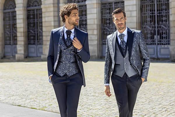 Fatos de noivo azul Trend: para o noivo atrevido
