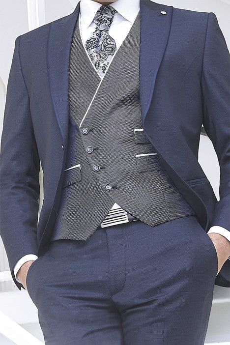 Blue groom suit ETERNAL 08.20.300