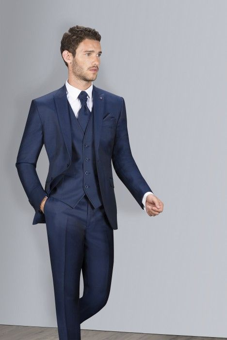 Blue groom suit SPECIAL EDITION 43.18.324