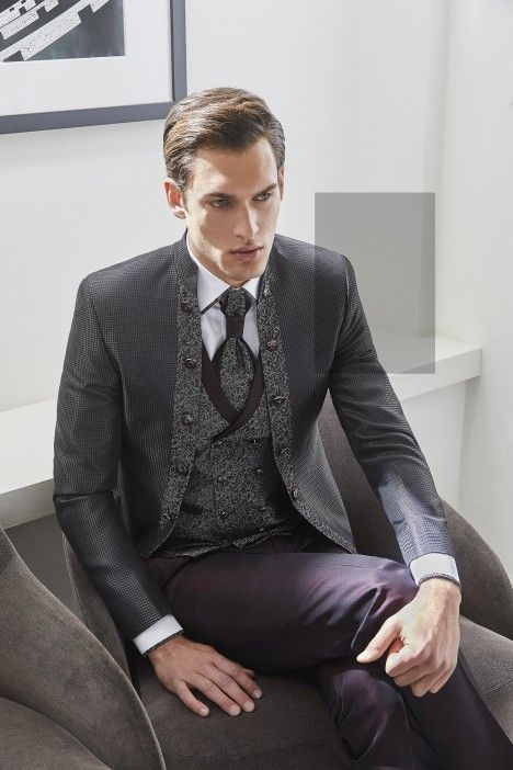 Burgundy groom suit TREND 52.20.010