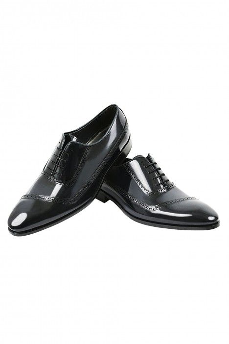 Black Roberto Vicentti shoes in leather