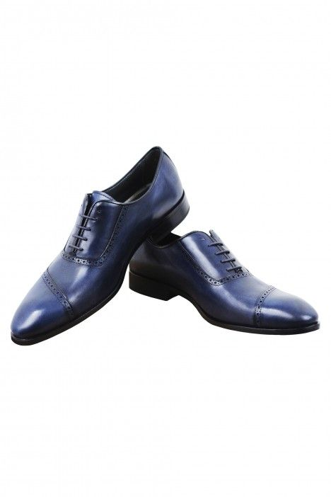 Dark blue Roberto Vicentti shoes in leather
