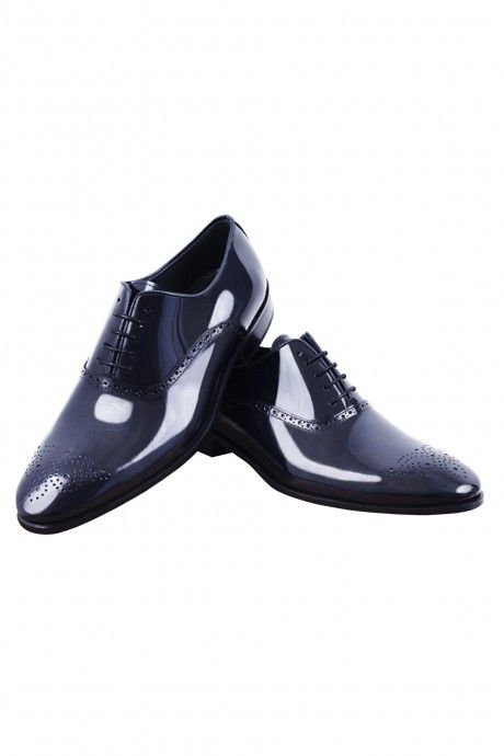 Blue Roberto Vicentti shoes in blue leather