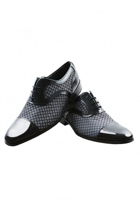 Black groom VILAR shoes in leather and fabric