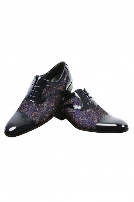 Black/blue groom VILAR Shoes in leather and fabric
