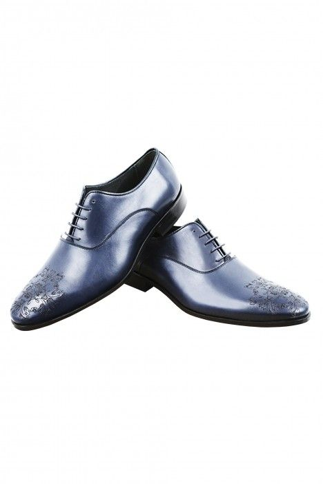 Blue groom VINIATI shoes in leather