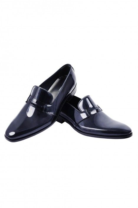 Blue groom suit RV shoe in leather