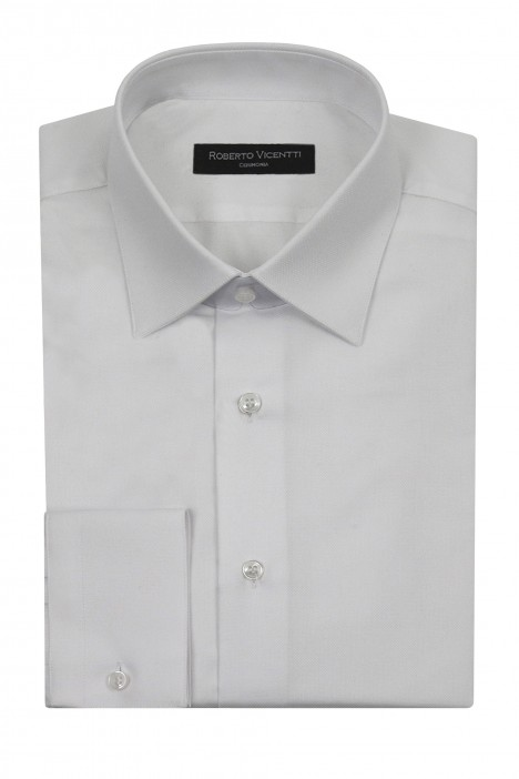 White Roberto Vicentti cotton regular fit shirt