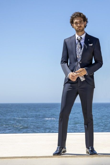 Blue groom suit Wedding 43.21.304