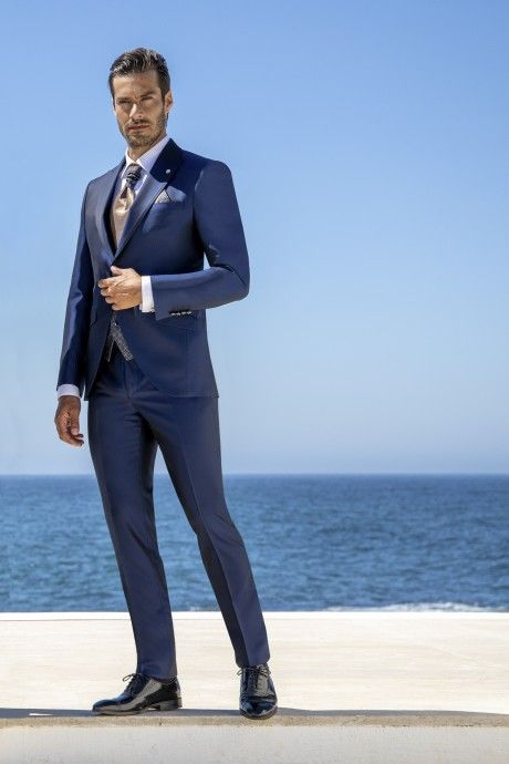 Blue groom suit Wedding 46.21.315