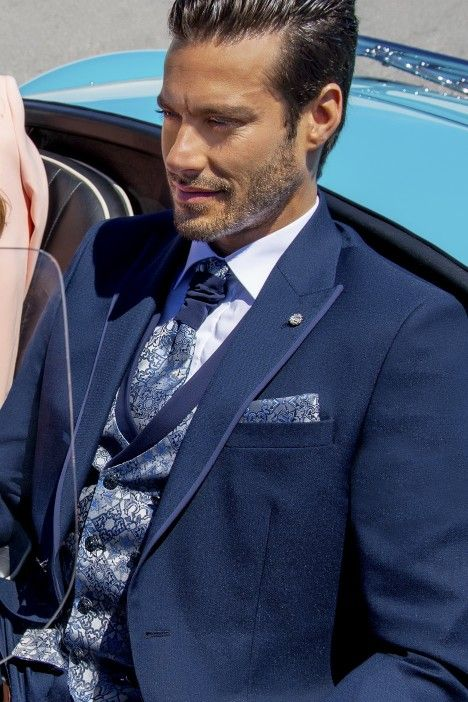 Blue groom suit Wedding 52.21.300