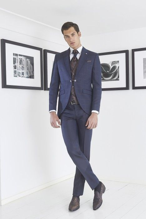 Checkered groom suit TREND 57.20.310