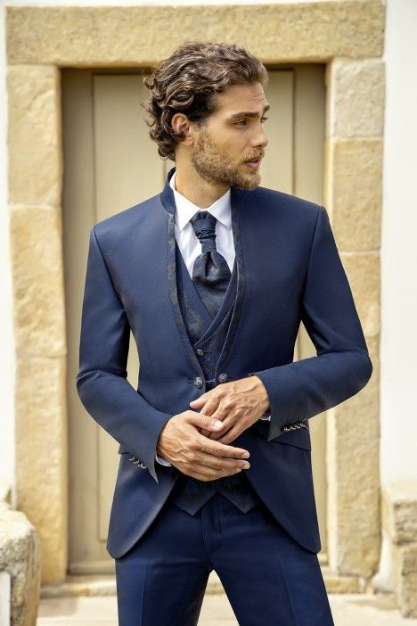 Blue groom suit Wedding 25.20.312