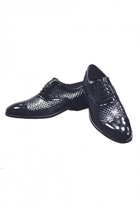 Blue leather groom shoe VANDIK