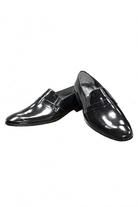 Black leather groom shoe VALENCIA