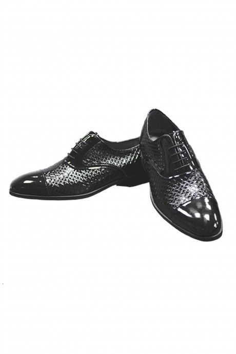 Black leather groom shoe VANDIK