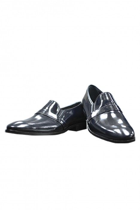 Blue leather groom shoe VALENCIA