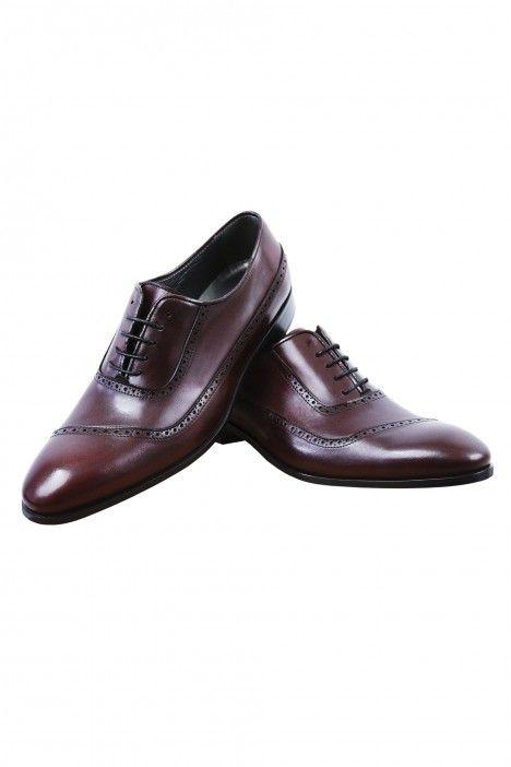 Sapato noivo VEGA bordô em pele