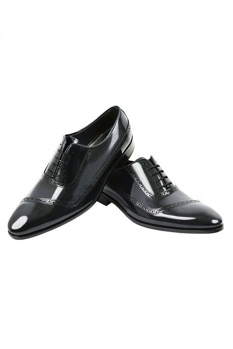Shiny black leather groom shoe  VEGA