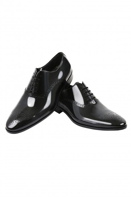 Black leather groom shoe VENETO