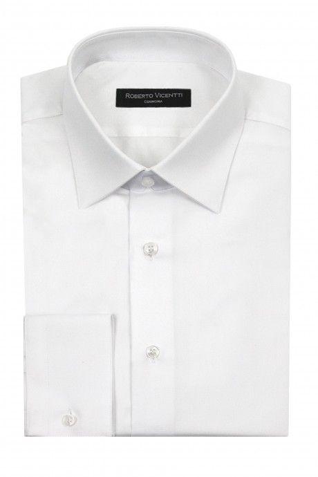 Camicia sposo bianco