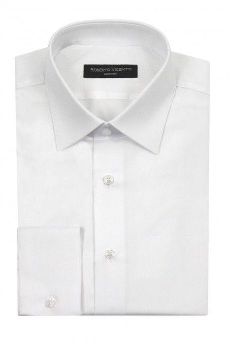 Camisa novio blanca Slim fit