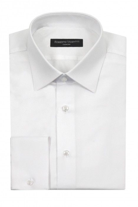 White groom shirt Slim fit