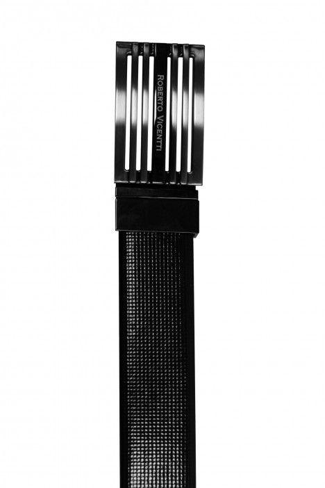 Reversible black/blue groom belt