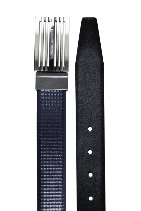 Cintura sposo reversibile blu/nero